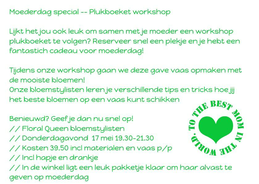 Moederdag special — Plukboeket workshop